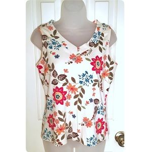 White Stag Flower Tank Top Size M